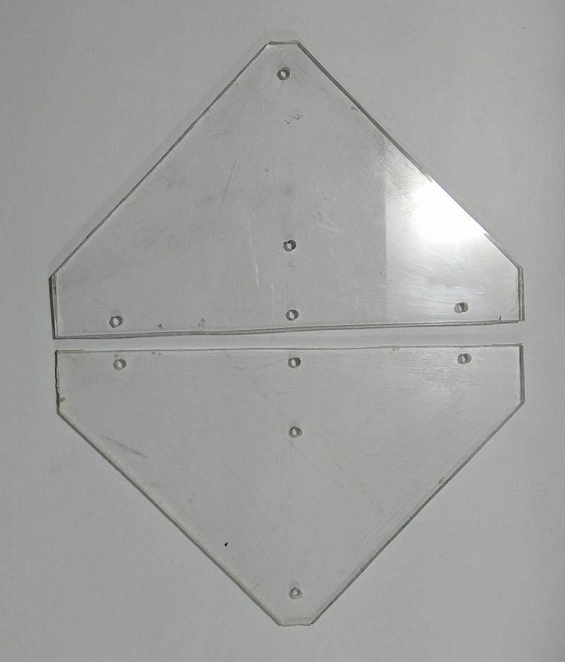 Perspex Mounting Plates