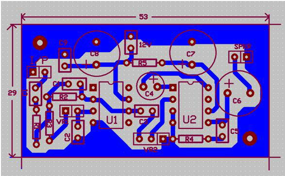 PCB for Audio card