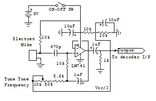 Elektret Mike interface circuit