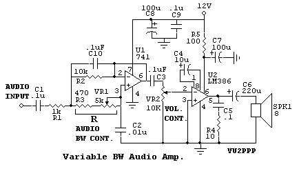 Variable Bandwidth Audio Amplifier