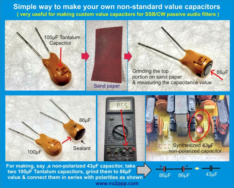 Make non-standard capacitors
