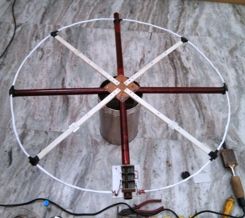 Completed Loop with Variable Capacitor attached