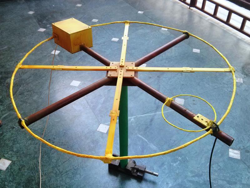completed antenna for pre-testing